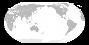 Japan Centerd World Map