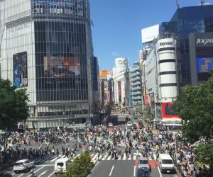 Scramble Crossing, Shibuya Tokyo in Golden Week